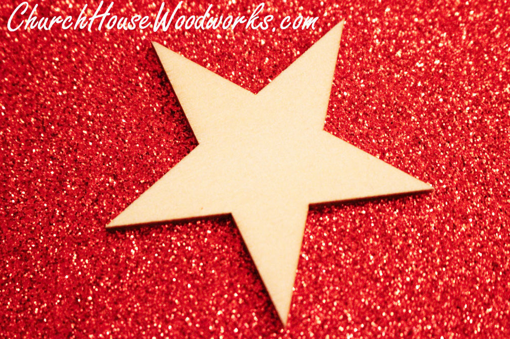 Wooden Star Christmas Ornaments