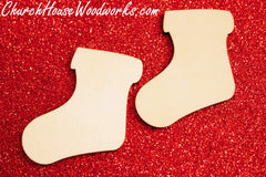 Wooden Stocking Christmas Ornaments