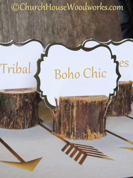 Boho Chic Rustic Cedar Place Card Holders Tribal Party