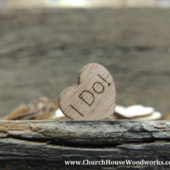 I Do! Wood Hearts - 100 ct - 1/2 inch