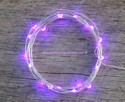Purple LED Battery Operated Lights for Weddings or bedroom decorations fairy lights