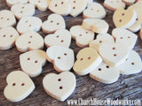 Heart Shape Wood Buttons pack of 10