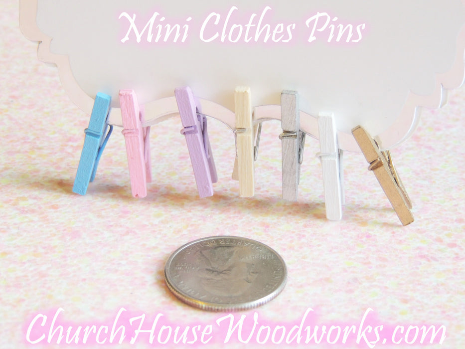 Mini Lilac Purple Clothespins Pack of 100 by ChurchHouseWoodworks.com