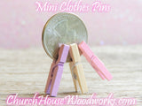 Light Green Mini Clothespins by ChurchHouseWoodworks.com
