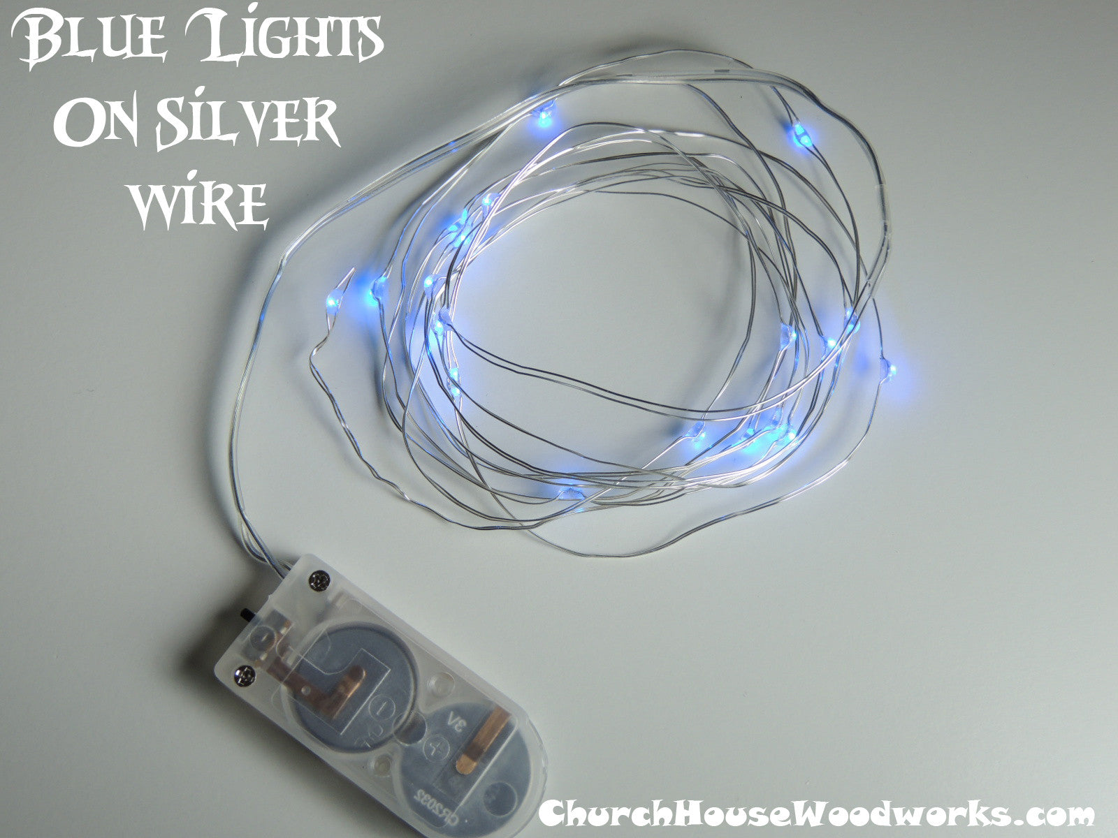 Blue Battery Fairy Lights LED Battery Operated Rustic Wedding Lights  Bedroom Lights