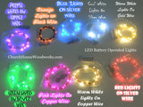 Pink LED Battery Operated Fairy Lights for Weddings for Bedroom Decorations