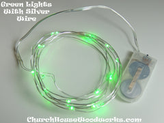 Green Battery Fairy Lights LED Battery Operated Rustic Wedding Lights Bedroom Lights