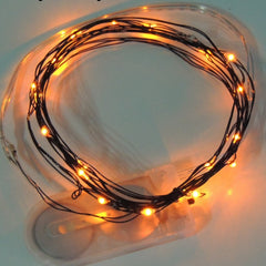 Orange Battery Fairy Lights LED Battery Operated Rustic Wedding Lights Bedroom Lights