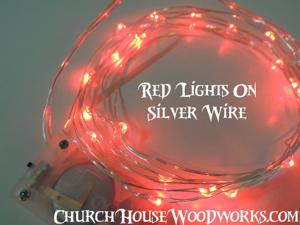 Red Battery Fairy Lights LED Battery Operated Rustic Wedding Lights Bedroom Lights
