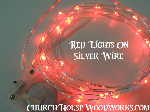 Red LED Battery Fairy Lights   Bedroom Fairy Lights, Wedding Lights  Decorations U2014 Church House Woodworks