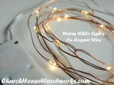 Warm White Lights On Copper Wire Battery Operated Lights for Rustic Weddings for bedroom decorations