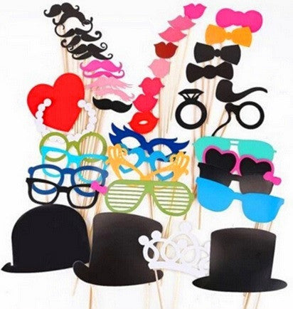 Photo Booth Props- 1 Set of 44 pcs