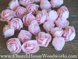 Pink Foam Roses- Pack of 50