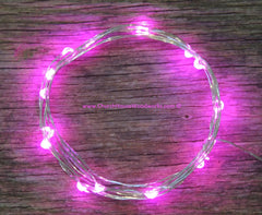 Pink Battery Fairy Lights - LED Battery Operated Rustic Wedding Lights