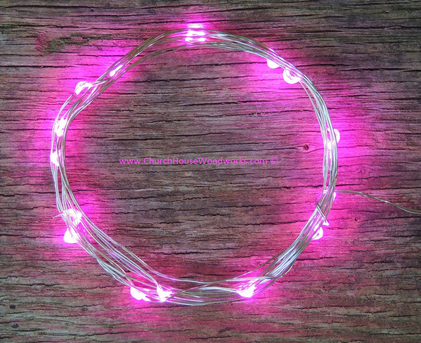 Pink LED Battery Operated Fairy Lights for Weddings for Bedroom Decorations String lights wreaths pictures decor crafts