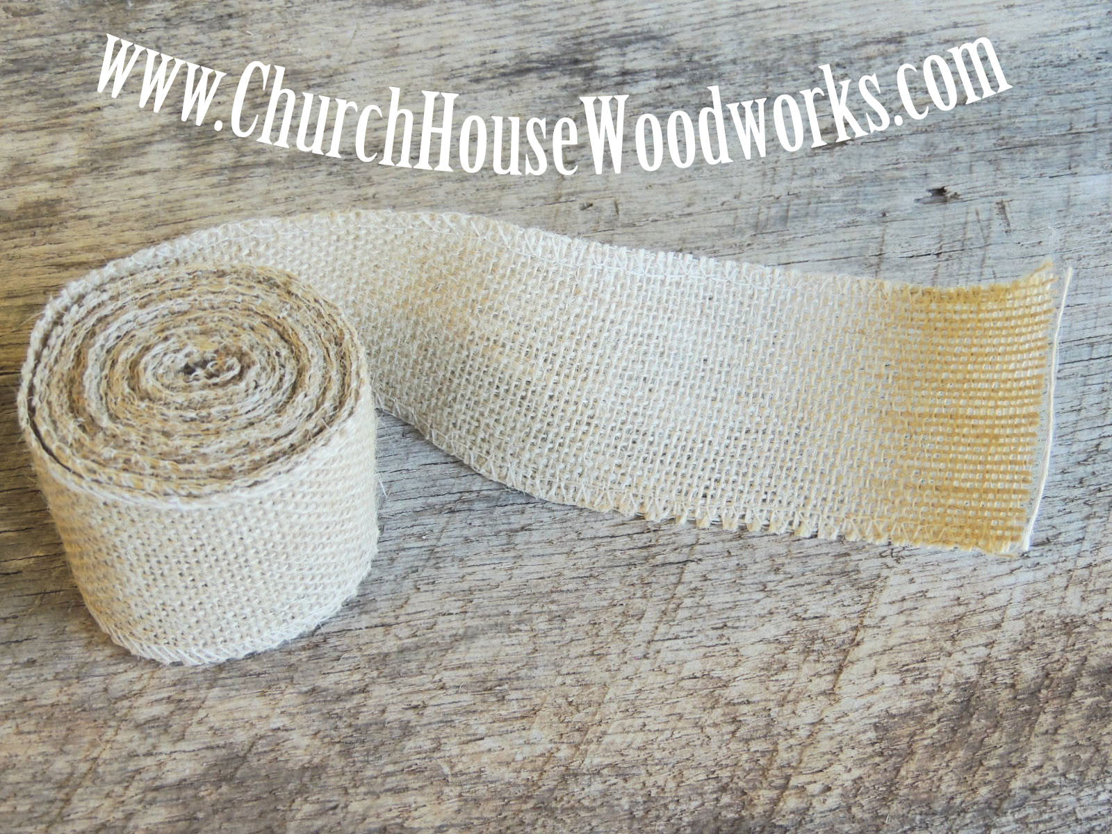 Jute Burlap Ribbon Church House Woodworks