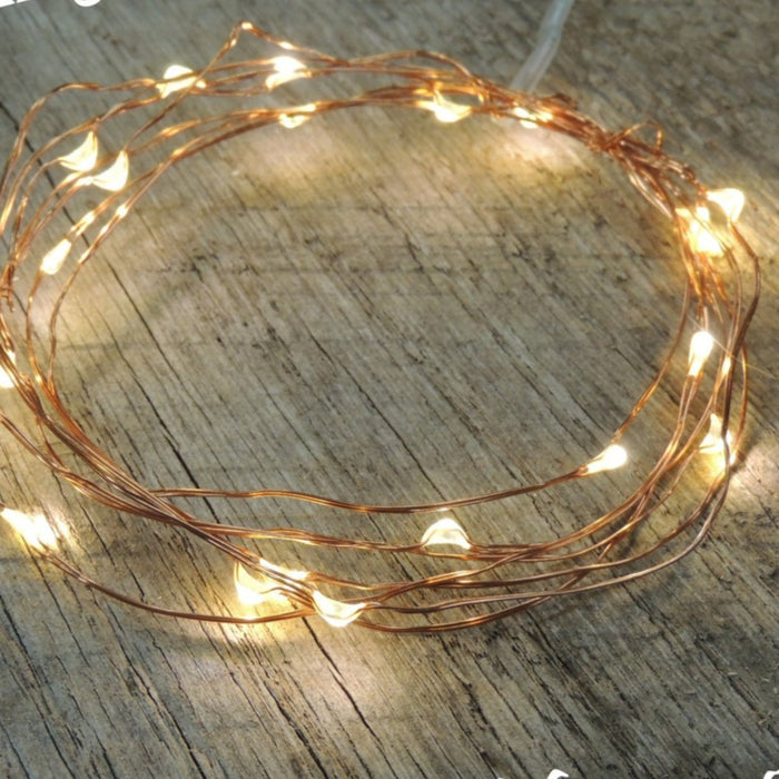 5 Sets Battery Fairy Lights - Warm White on Copper Wire LED Rustic Wedding Lights