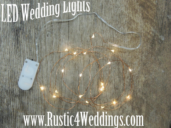 LED Wedding Lights Battery Operated Fairy Lights Church House Woodworks Rustic Weddings