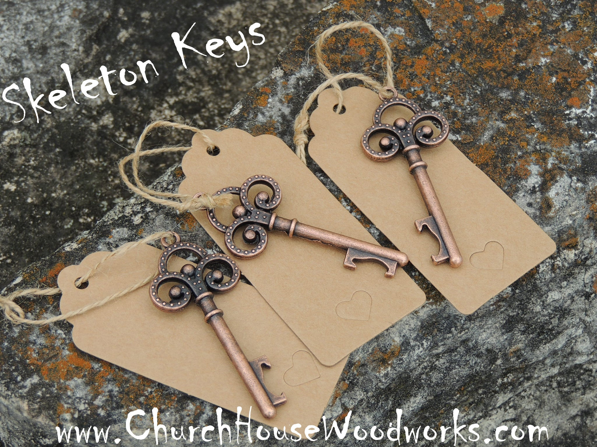 Skeleton Keys Bottle Openers-Set of 5- Party Wedding Favors