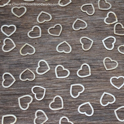wood hollow hearts table decorations weddings receptions invitations showers shapes embellishments