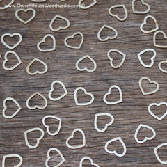 Wood Hollow Hearts - 5/8 inch - 100 ct