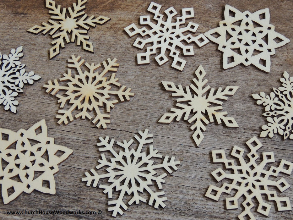 diy snowflake craft supplies