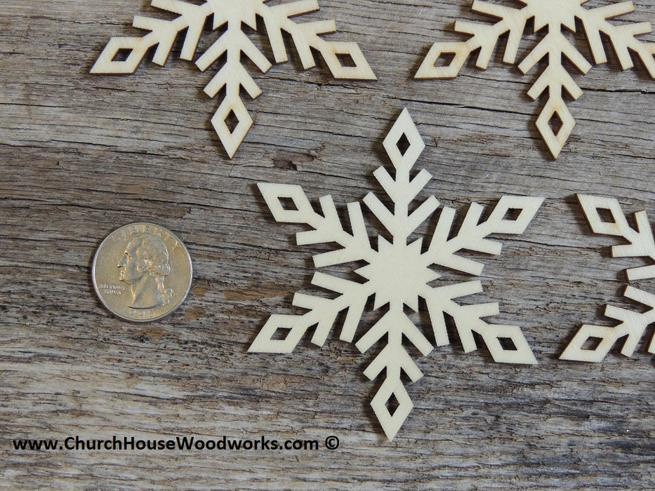 wood snowflake diy craft supplies Christmas crafts ornaments