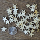 Small Wood Stars in one inch size for Christmas Crafts, Flag Crafts, DIY 3/4 quarter inch .75 inches