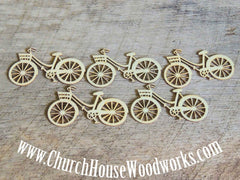 Wooden Bicycle Die Cut Pack of 5