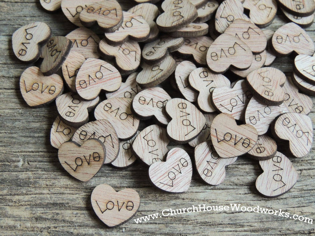 Wood Love Hearts