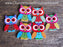 Owl Wood Buttons pack of 5