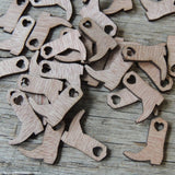 Cowboy Wedding Little Wooden Cowboy Boots Table Decorations Confetti Western Wedding