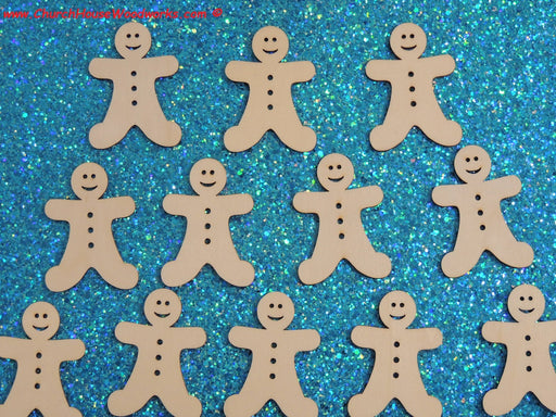 2 inch wood gingerbread men man for Christmas ornaments crafts art diy