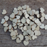 half inch blank wood wooden hearts light color wood for table decorations wedding receptions table confetti 2