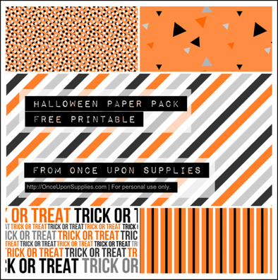 free Halloween digital paper pack
