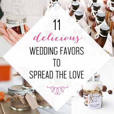 11 Delicious Wedding Favors to Spread the Love