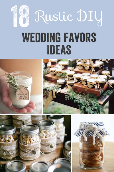 Rustic DIY Wedding Favor Ideas | Once Upon Supplies