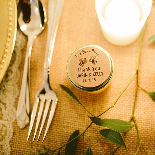 honey jar stickers for wedding favors