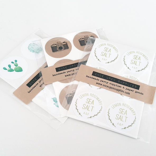 custom sea salt wedding favor stickers