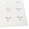 White She Said Yes Stickers