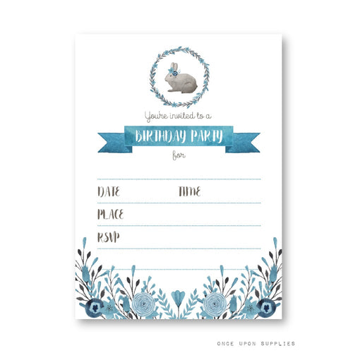 Bunnies Birthday Party Invitation