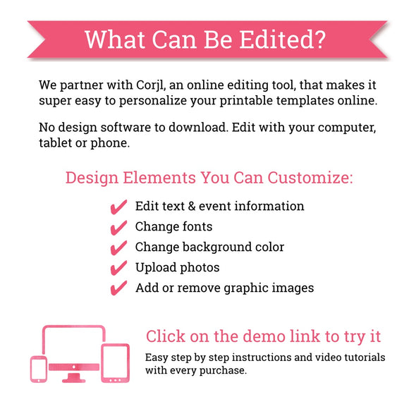 Editable Party Printables | What Can be Edited