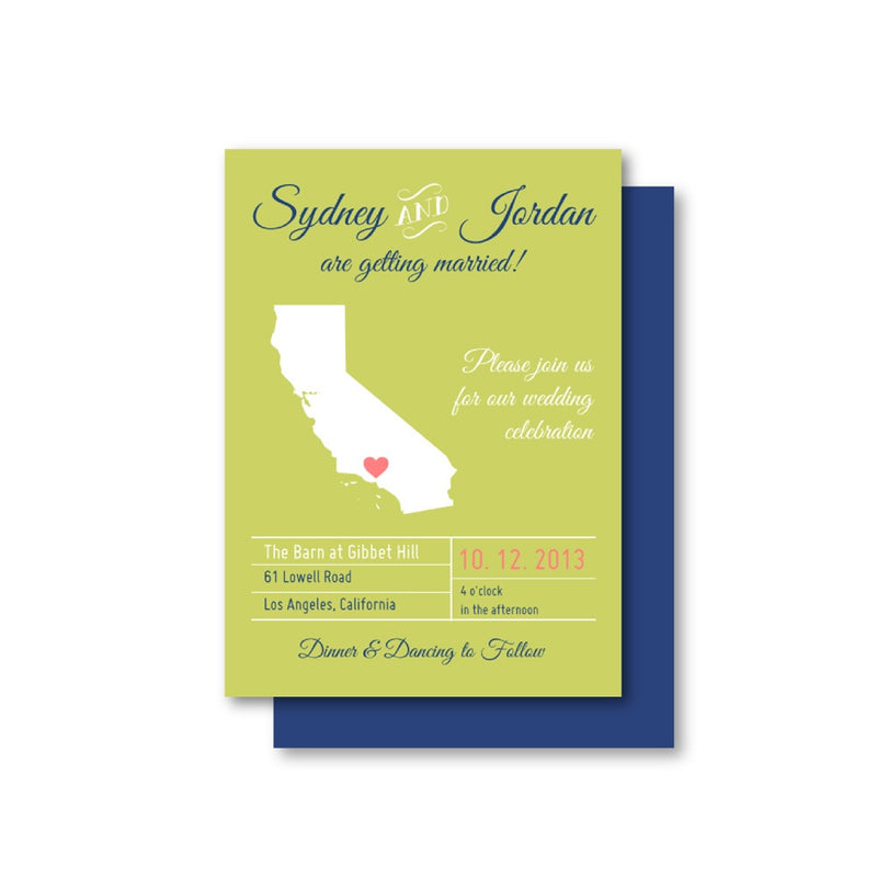 Custom Map Wedding Invitation Suite