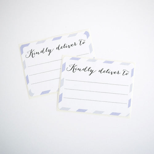 Lavender and Gray Kindly Deliver To Labels / Shipping Address Labels - Once Upon Supplies - 1