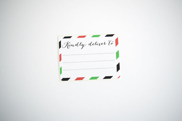 Red and Green Stripes Christmas Shipping Labels - Once Upon Supplies - 3