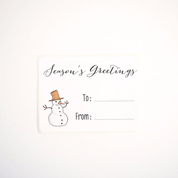 christmas gift labels - snowman design