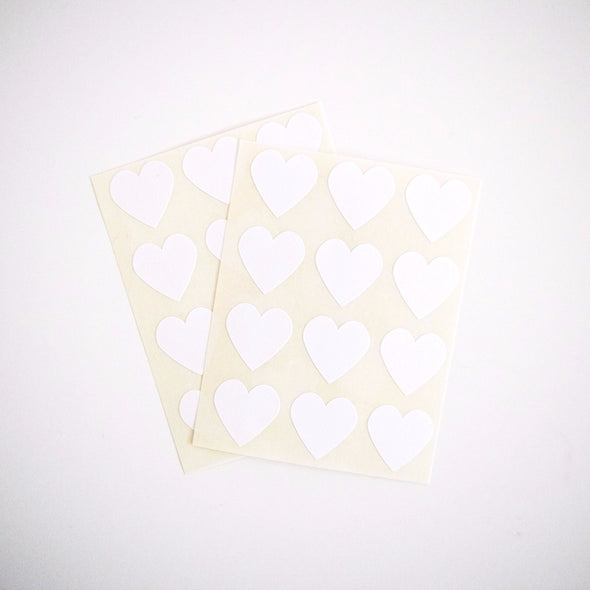 White Mini Heart Stickers - Once Upon Supplies - 2
