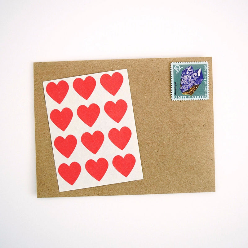 Mini Red Heart Labels - Once Upon Supplies