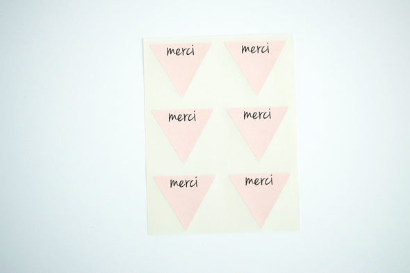Rustic Kraft Brown Merci Stickers - Once Upon Supplies - 8