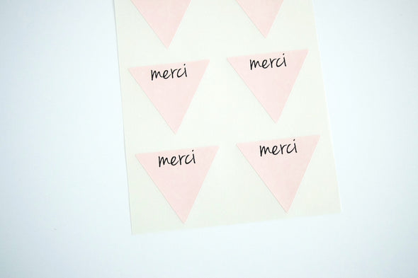 Rustic Kraft Brown Merci Stickers - Once Upon Supplies - 7